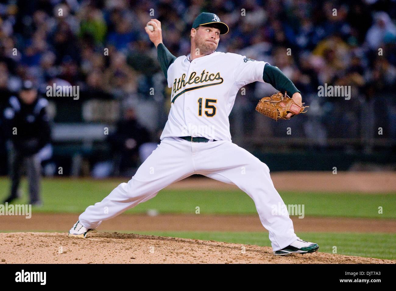 Oakland Calif Oakland Athletics P Ben Sheets 15 During Game Stock Photo 63227531 Alamy