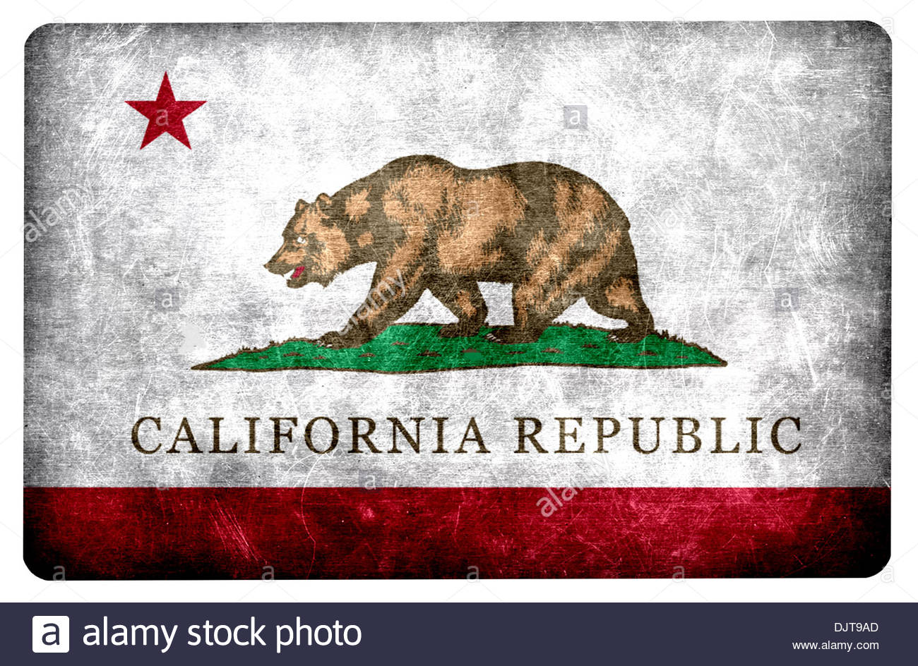 Grunge Flag Of The US State California