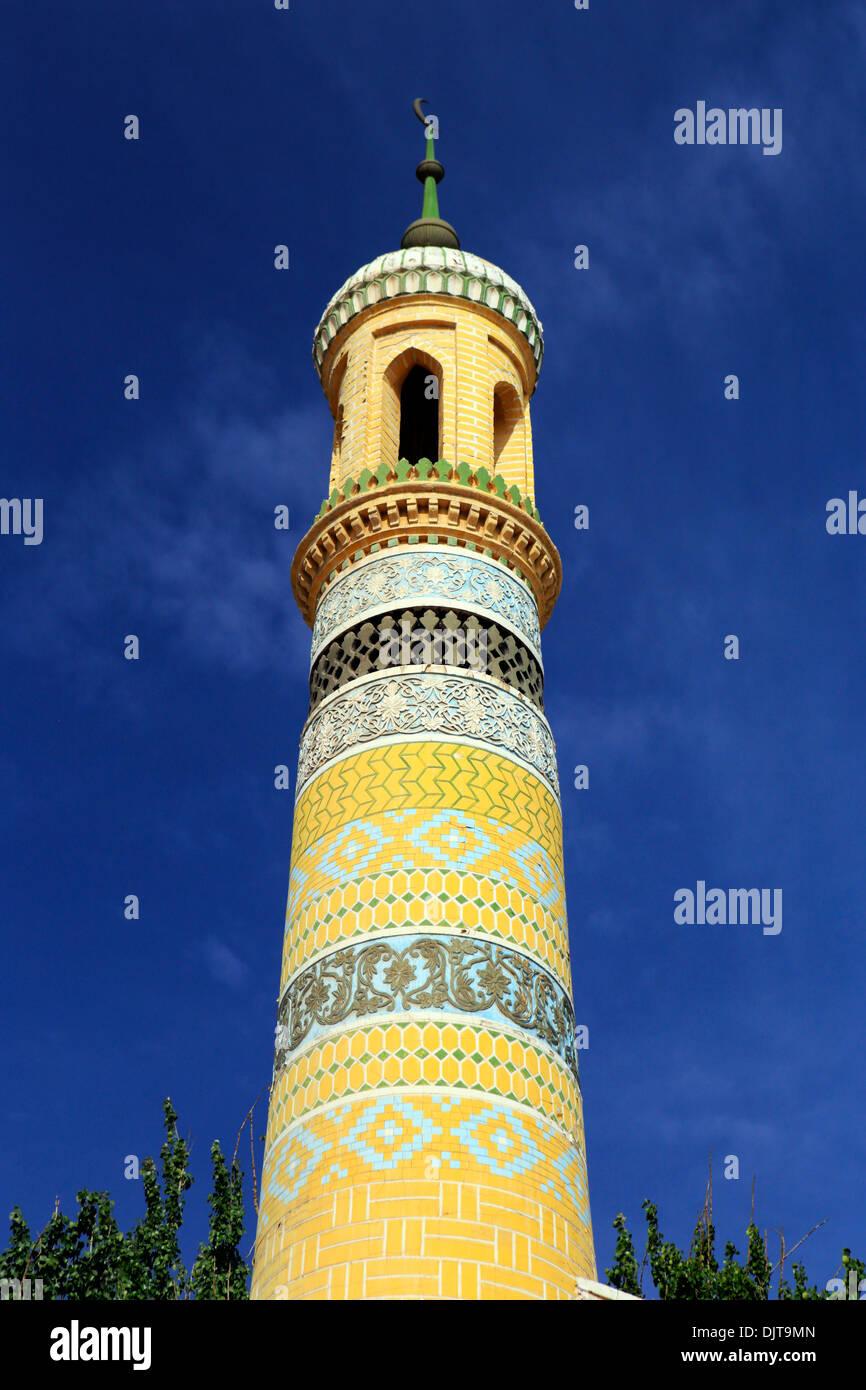 Id Kah Mosque, Kashgar (Kashi), Kashgar Prefecture, Xinjiang Uyghur Autonomous Region, China - Stock Image