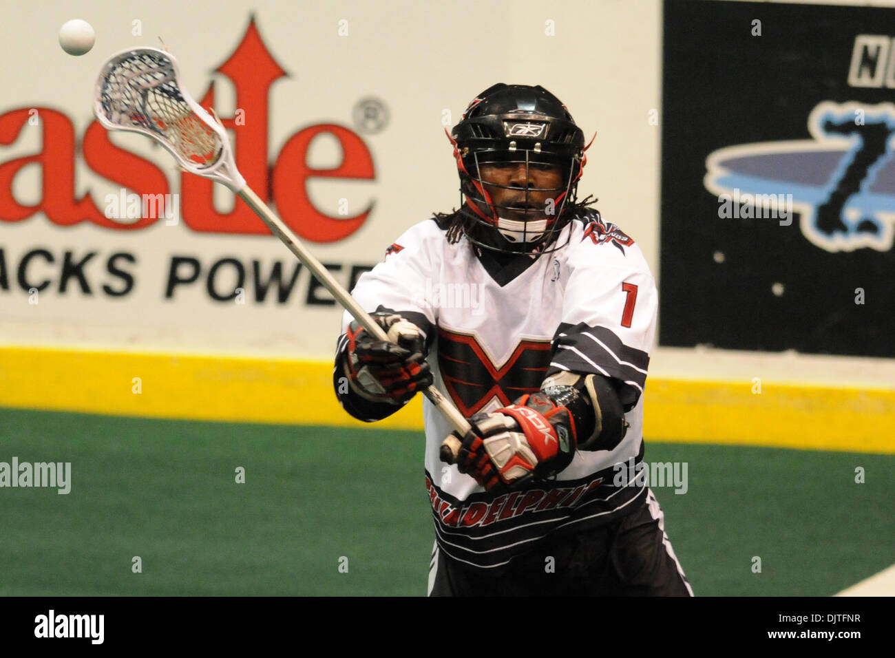 John Christmas Lacrosse.Philadelphia Wings Forward John Christmas 1 Makes A Pass