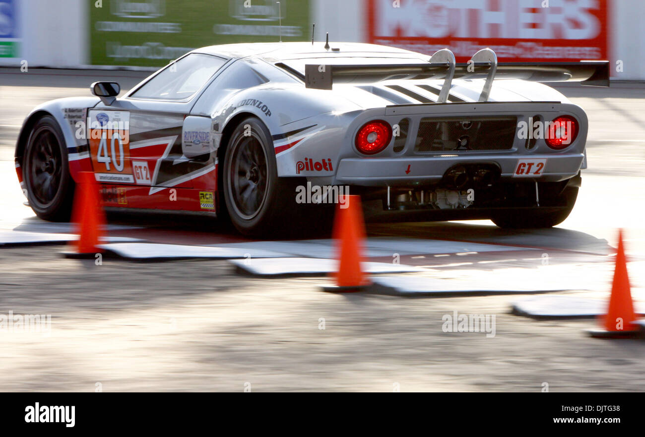 The Number  Ford Gt  Driven By David Robertson Heads Into Turn  During Friday Practice At The Toyota Grand Prix Of Long Beach
