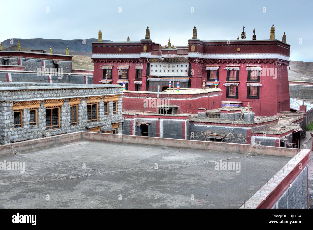 Sakya Monastery, Shigatse Prefecture, Tibet, China - Stock Image