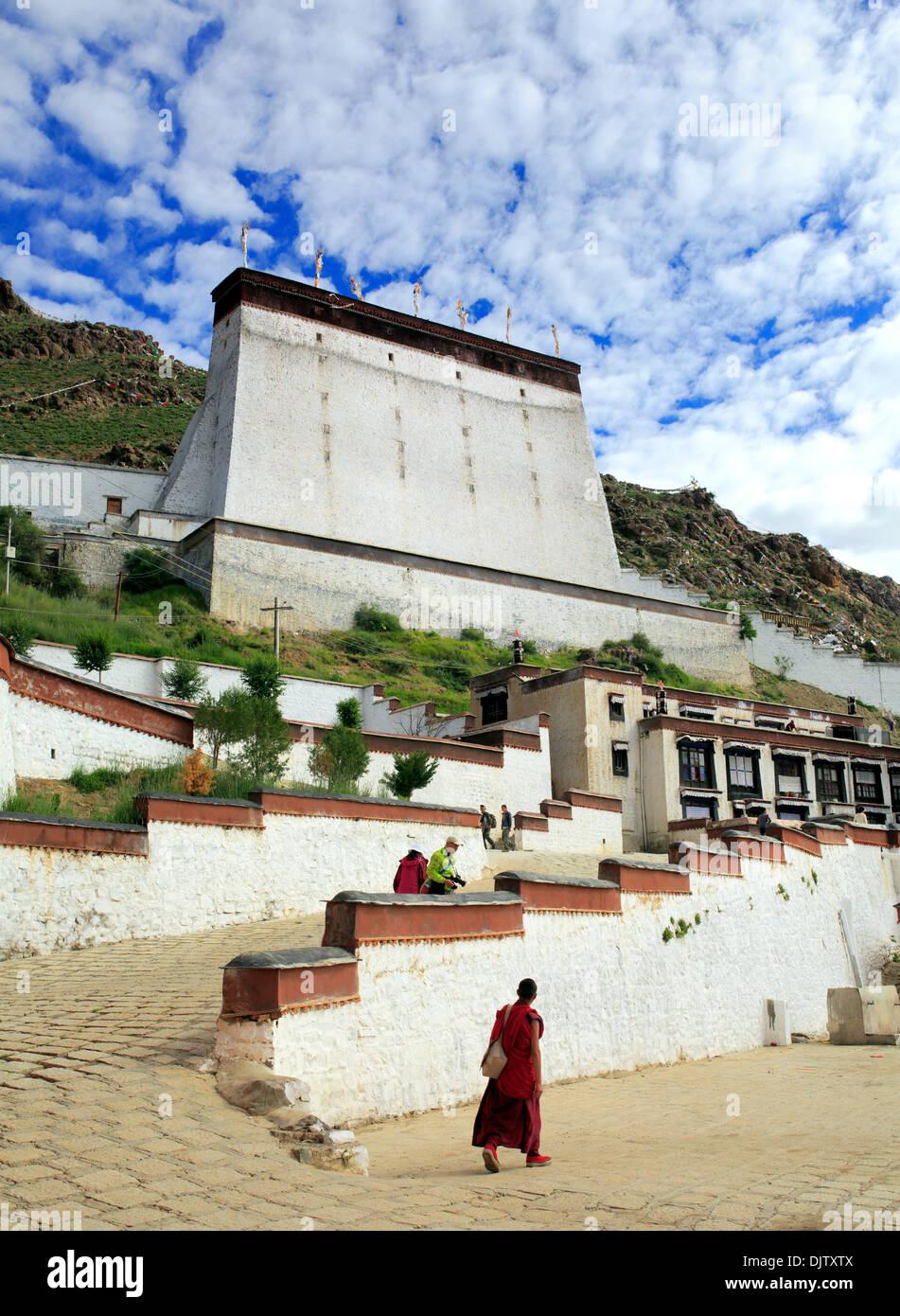 Tashilhunpo monastery, Shigatse, Tibet, China - Stock Image