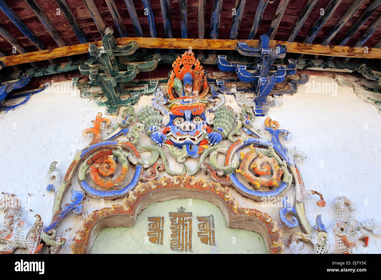 Kumbum Stupa (1439), Palcho Monastery (Pelkor Chode, Shekar Gyantse), Gyantse County, Shigatse Prefecture, Tibet, China - Stock Image