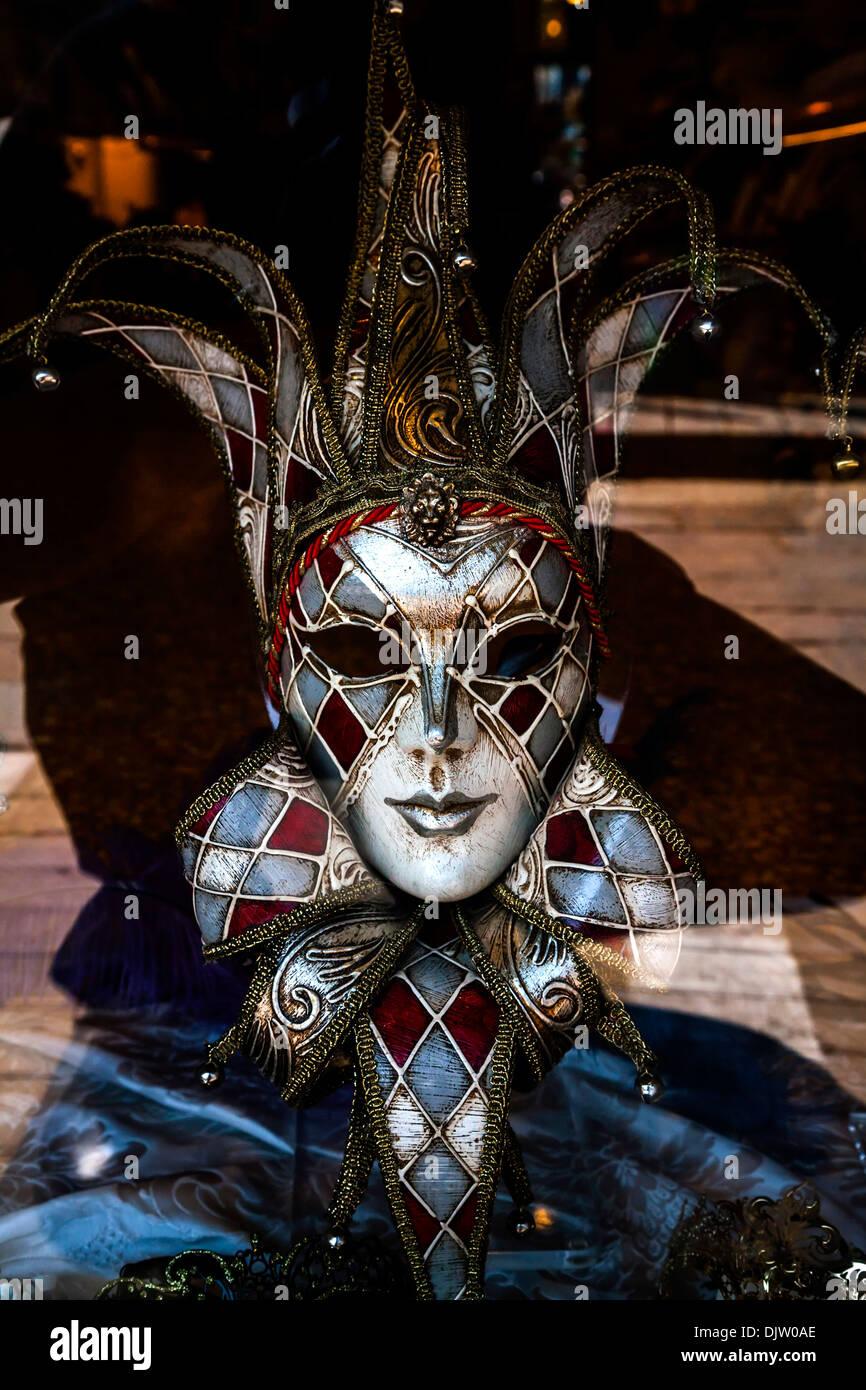 Venice Carnival Mask Jester Stock Photos & Venice Carnival ...