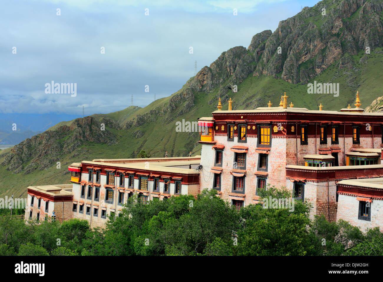 Drepung monastery, Mount Gephel, Lhasa Prefecture, Tibet, China - Stock Image