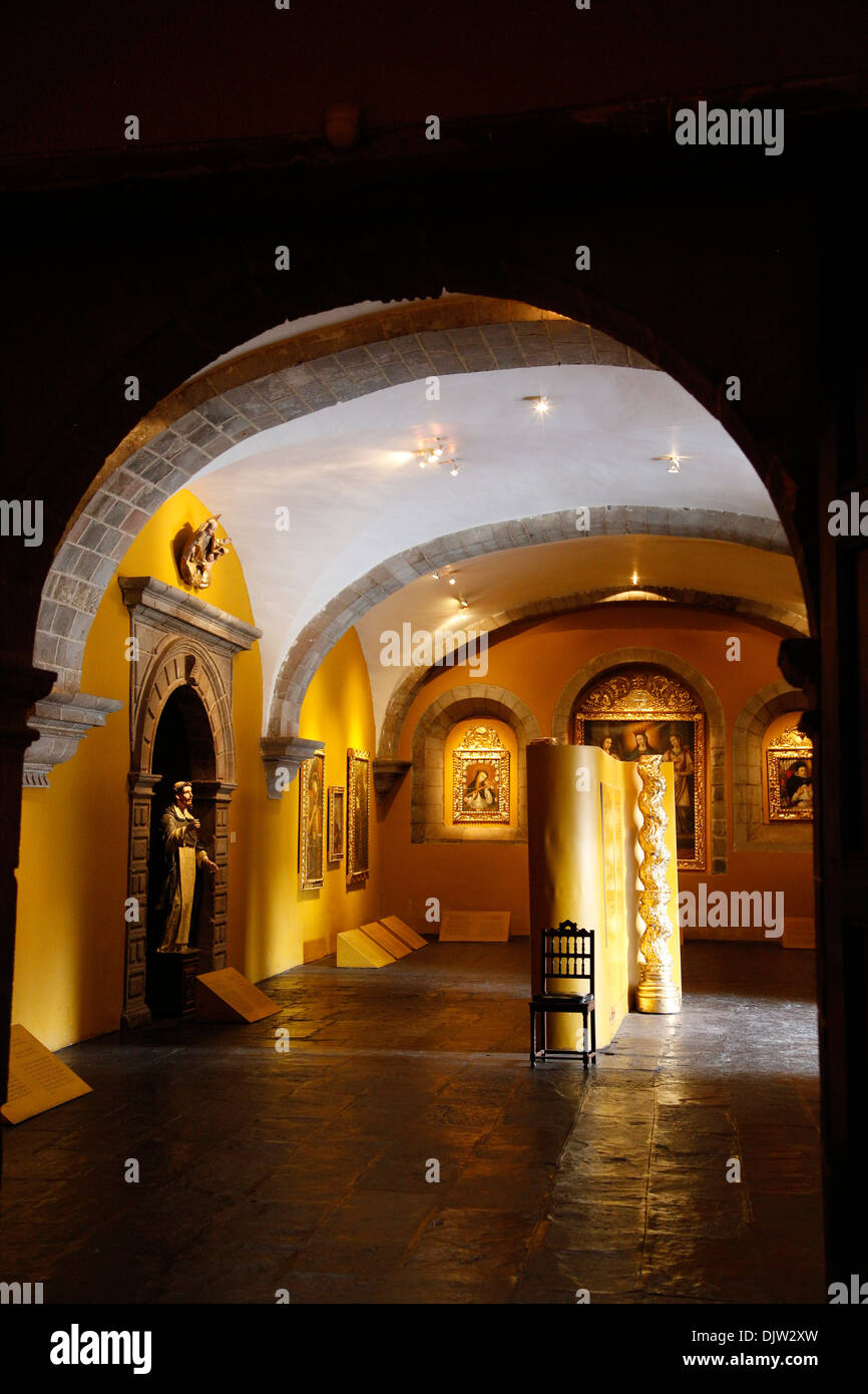 The Pinacoteca at Santo Domingo church at the Qorikancha, Cuzco, Peru. - Stock Image