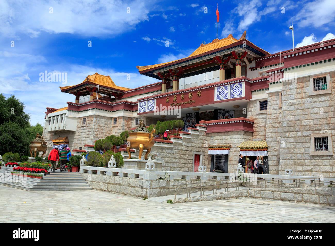Tibetan museum, Lhasa, Tibet, China - Stock Image