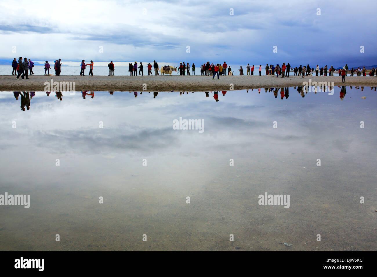 Namtso Lake (Nam Co), Tibet, China - Stock Image