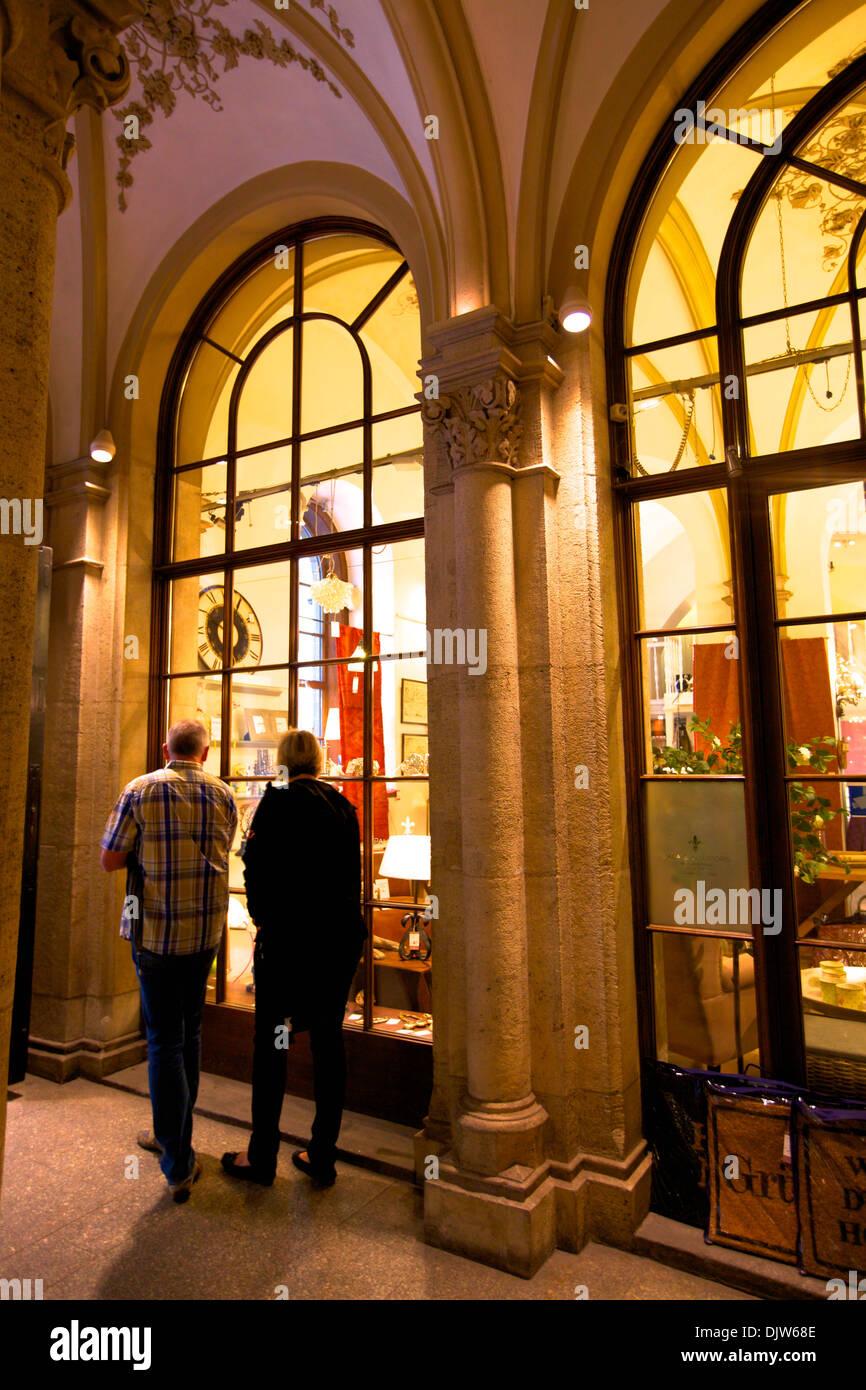 Shopping in Freyung Passage, Vienna, Austria, Central Europe Stock Photo