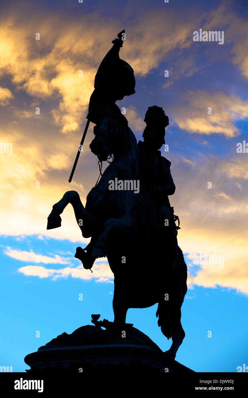 Statue of Archduke Charles, Heldenplatz, Vienna, Austria, Central Europe - Stock Image
