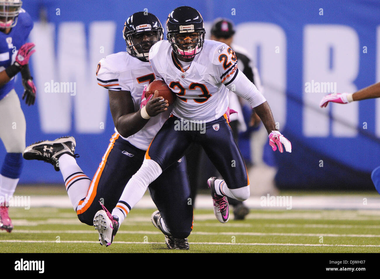 the latest c7b1f 324f1 Chicago Bears wide receiver Devin Hester (23) is run into ...
