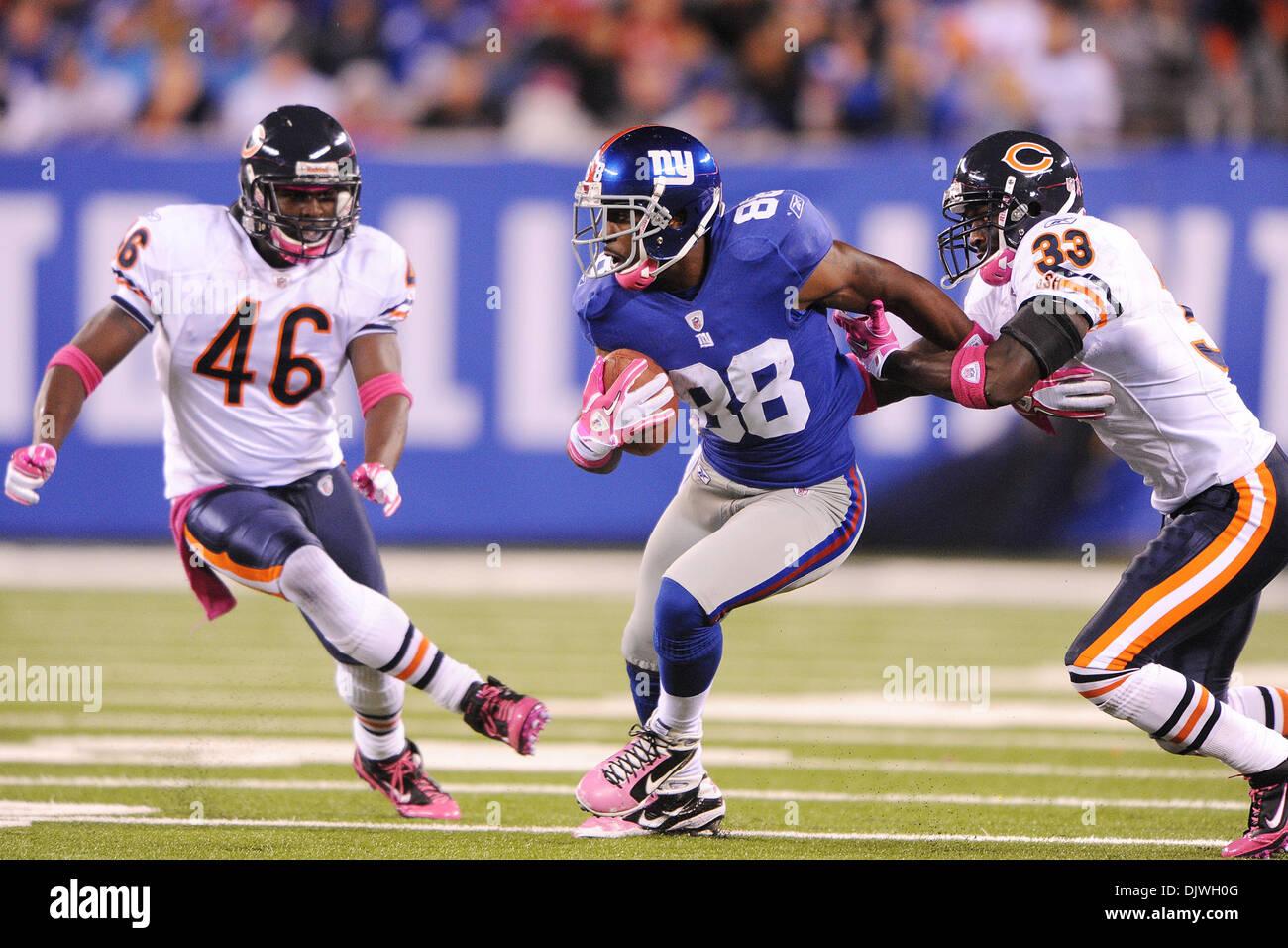 New York Giants Wide Receiver Hakeem Nicks 88 Evades Chicago Bears