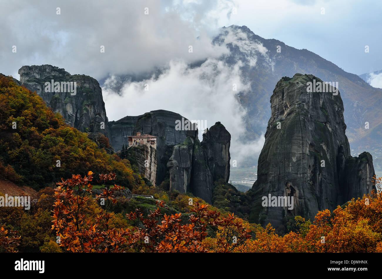 Gaint rocks Meteora - Stock Image