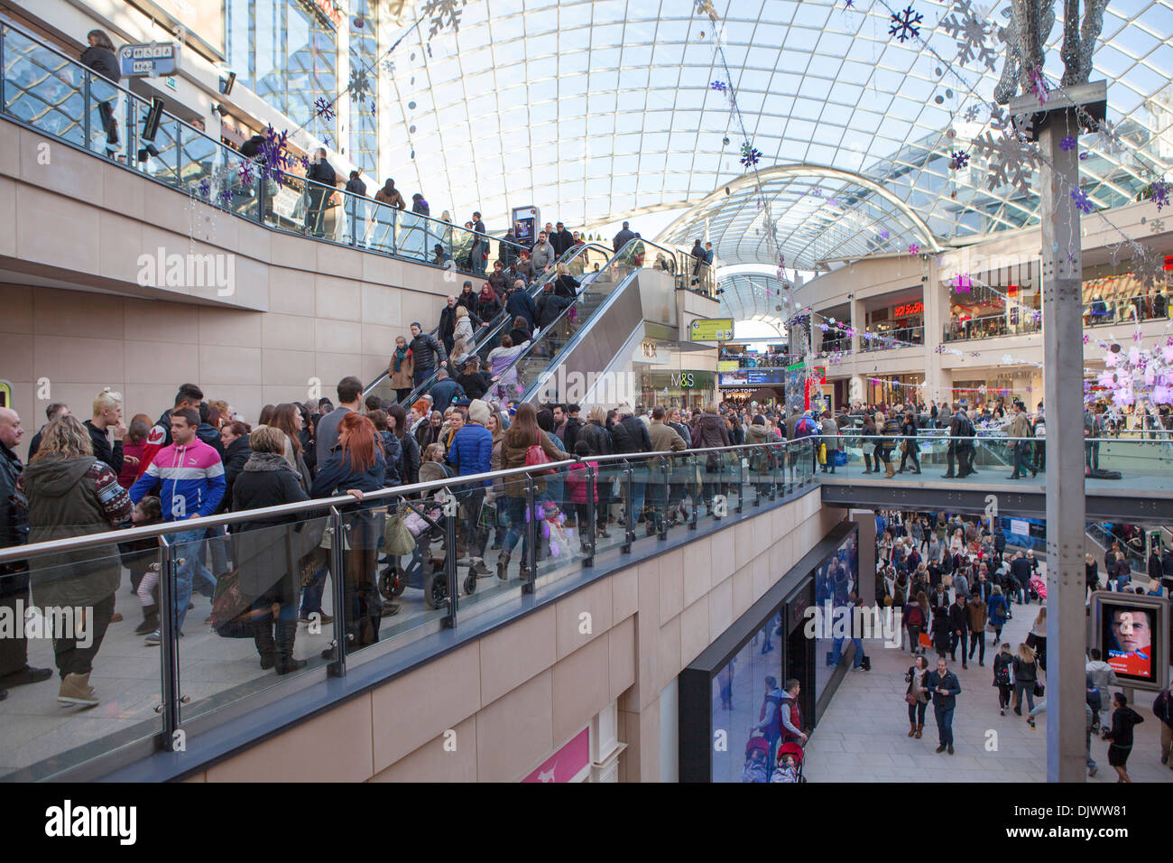 Inside Trinity Leeds shopping and leisure centre in Leeds, England - Stock Image