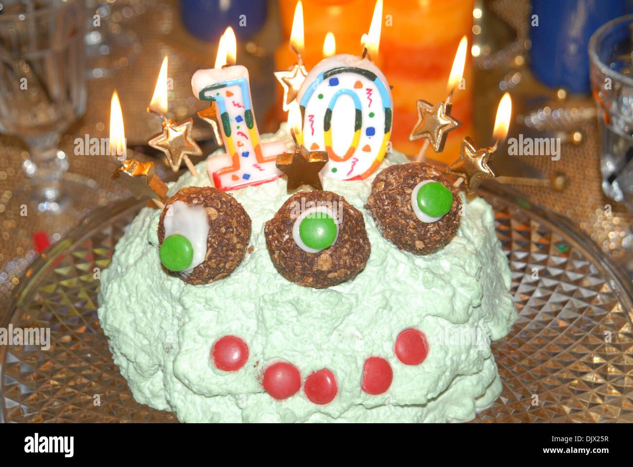 Fantastic Crazy Alien Birthday Cake Stock Photo 63267395 Alamy Funny Birthday Cards Online Elaedamsfinfo