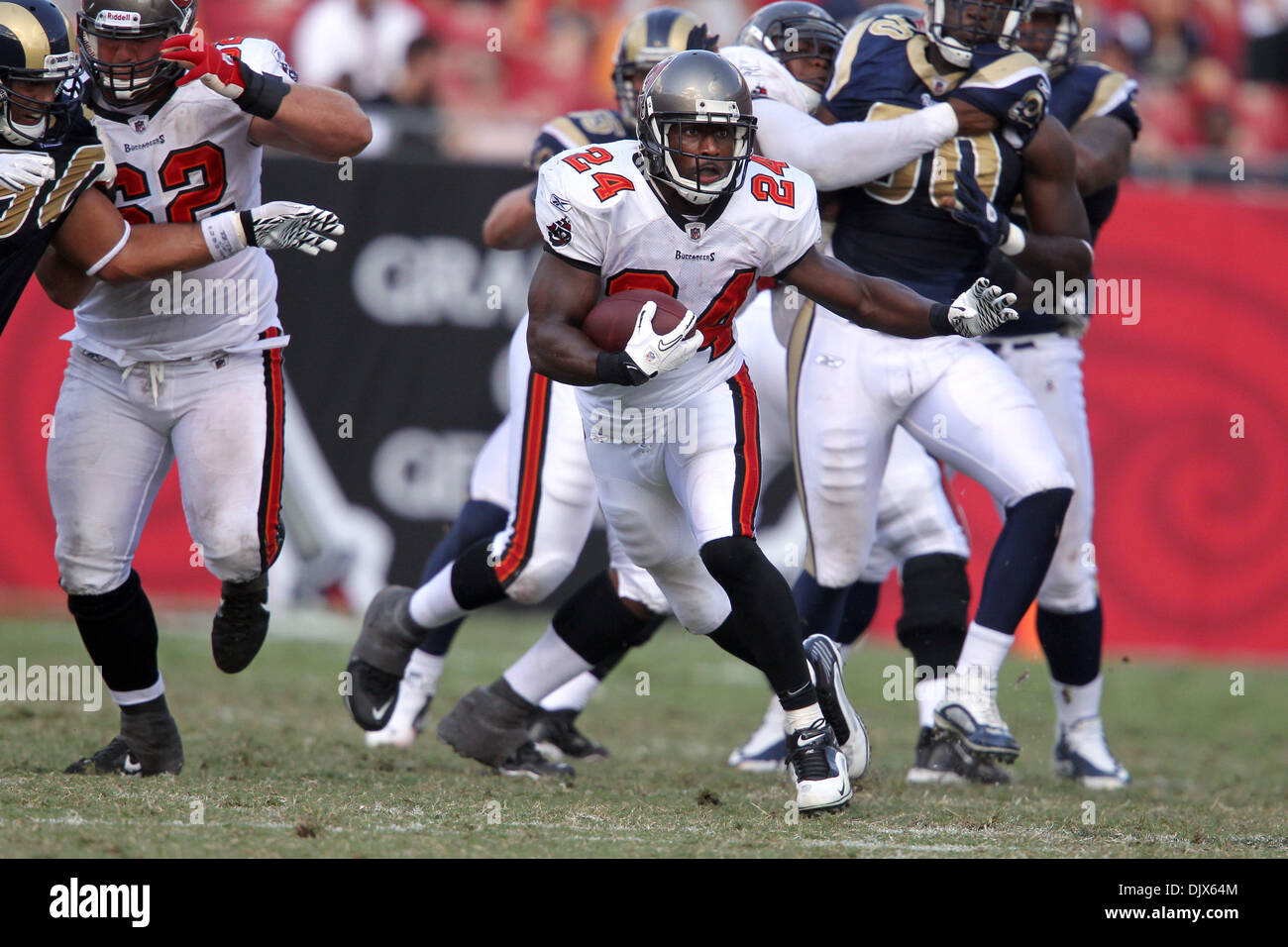 Oct. 24, 2010 - Tampa, Florida, United States of America - Tampa Bay Buccaneers running back Cadillac Williams (24) Stock Photo