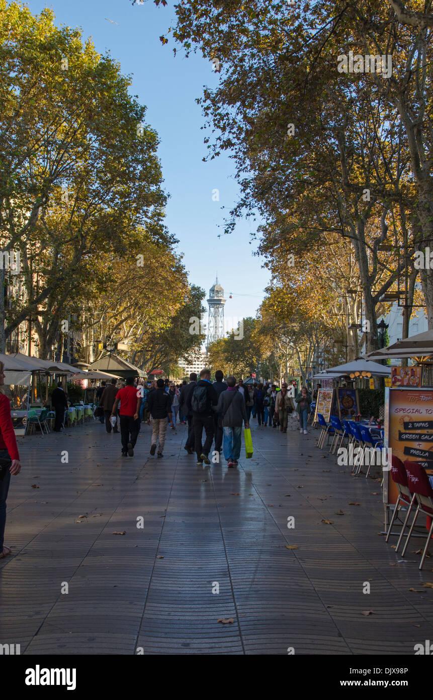 Las Ramblas, Barcelona - Stock Image