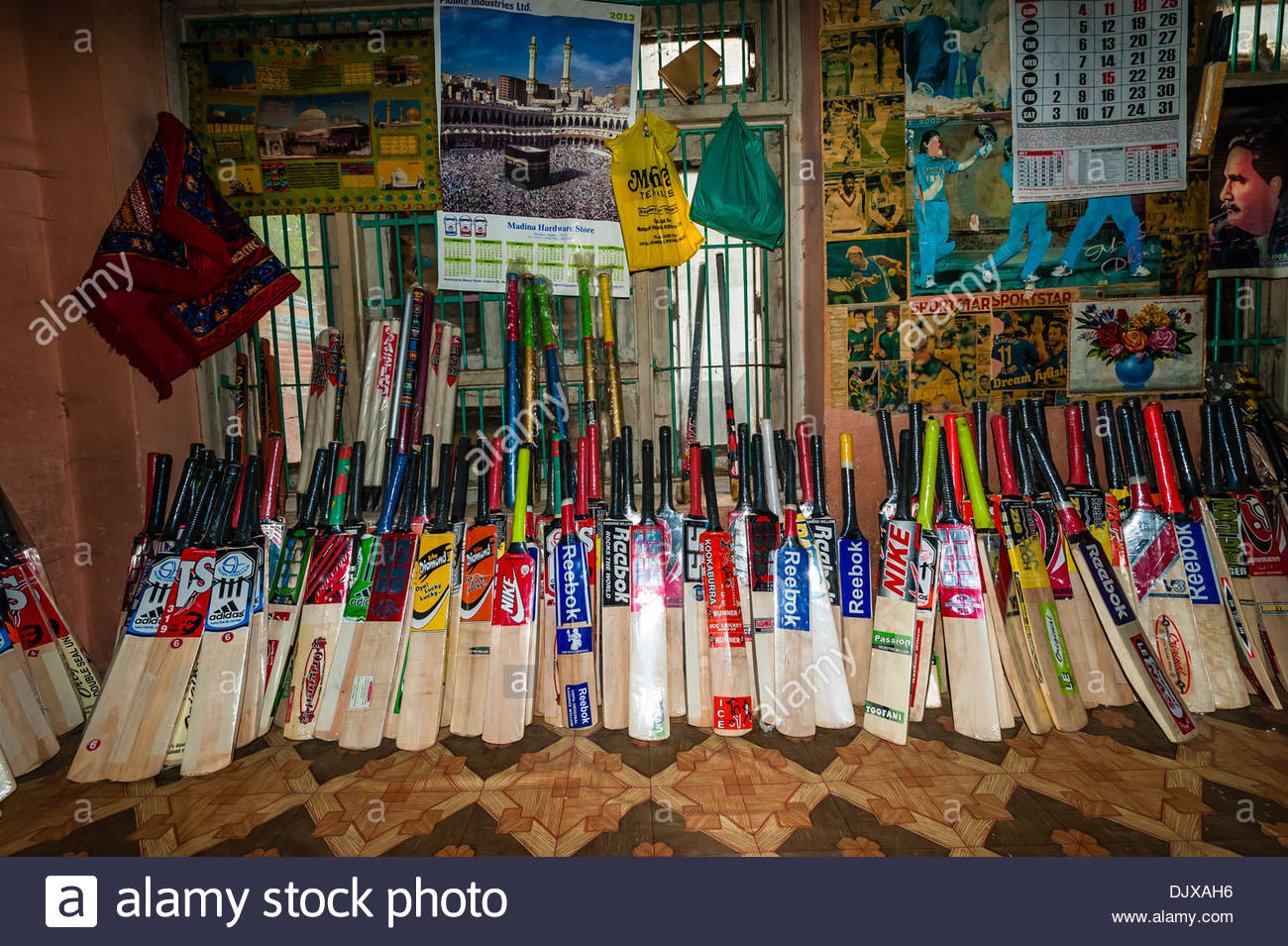 Cricket bat stock photos