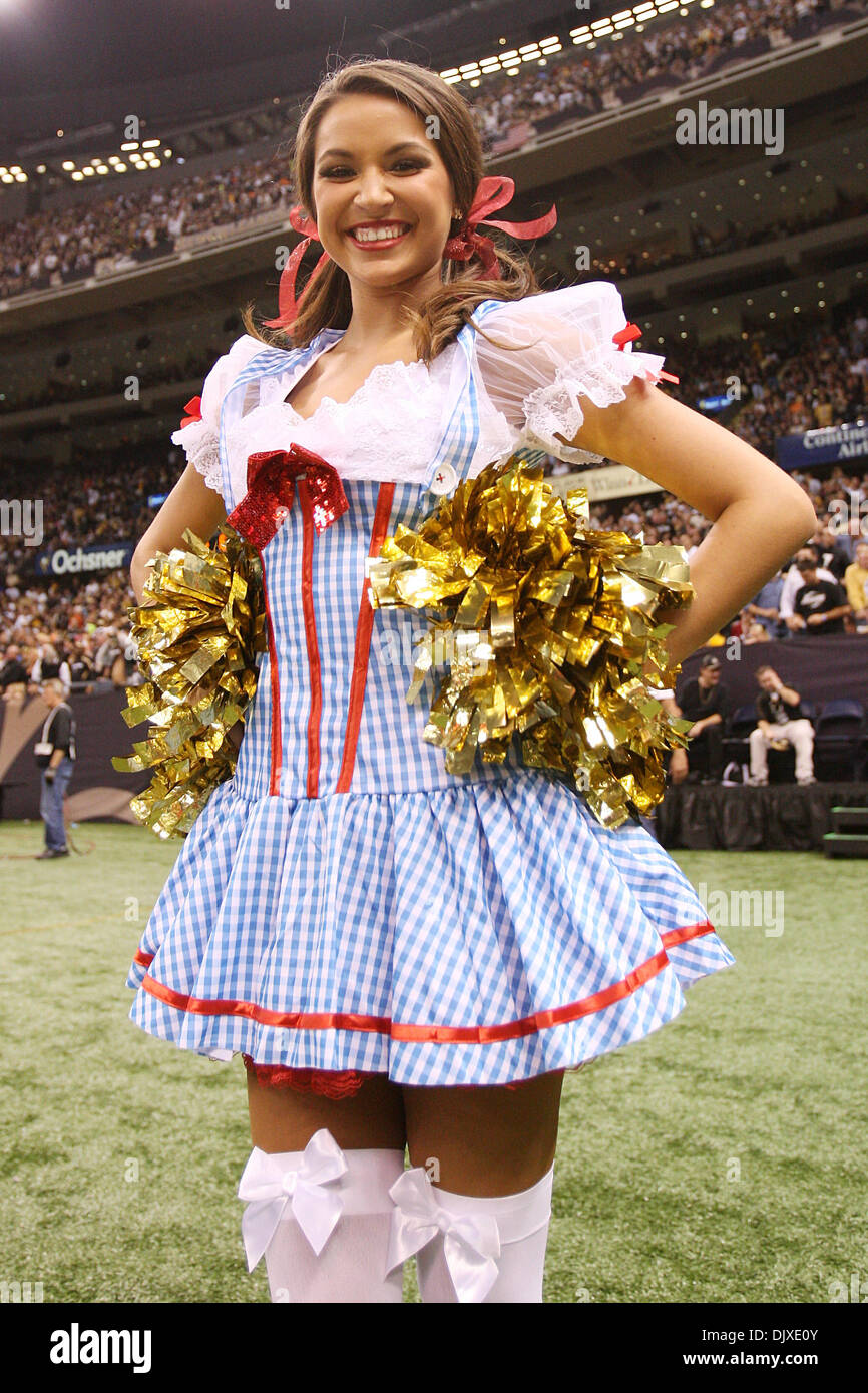 Oct 31 2010 The New Orleans Saints Cheeleaders the Saintsations show their Halloween spirit with new costumes in the second halfduring game action ...  sc 1 st  Alamy & Oct 31 2010: The New Orleans Saints Cheeleaders the Saintsations ...