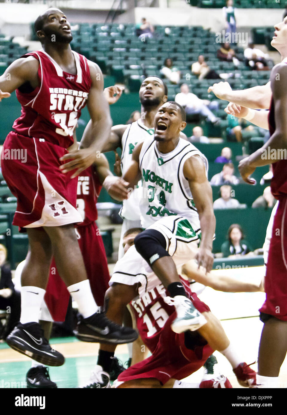 Nov. 12, 2010 - Denton, Texas, United States of America - North Texas Mean Green forward Alonzo Edwards (34) makes - Stock Image