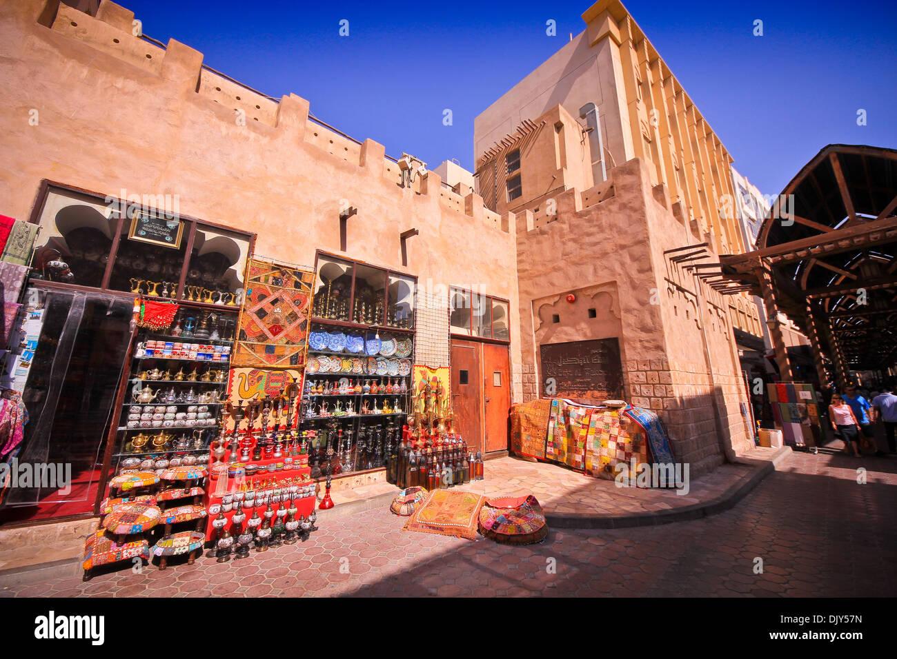 Bur Dubai Souk, Dubai, United Arab Emirates. - Stock Image