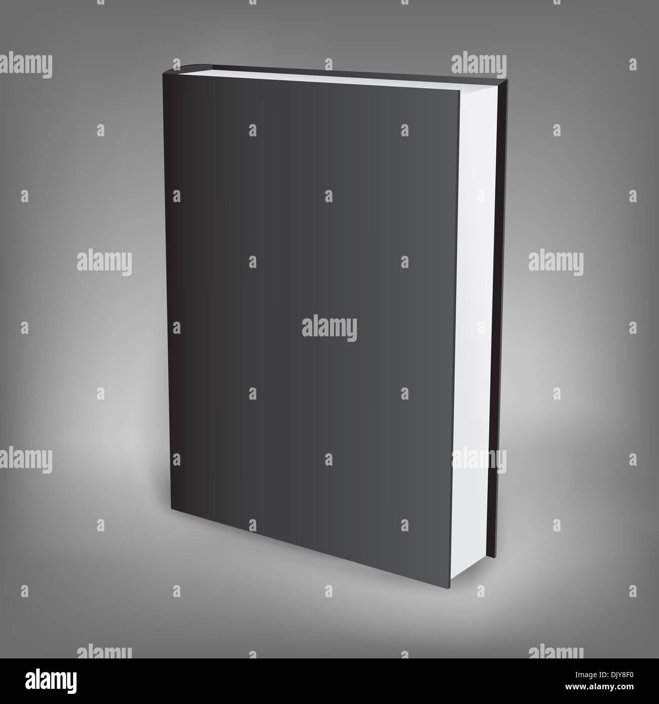 The black presentation book isolated on the dark background