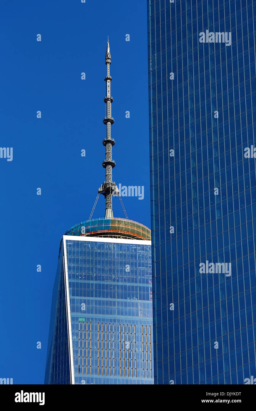 One World Trade Center ( 1 WTC ) building, New York. America - Stock Image