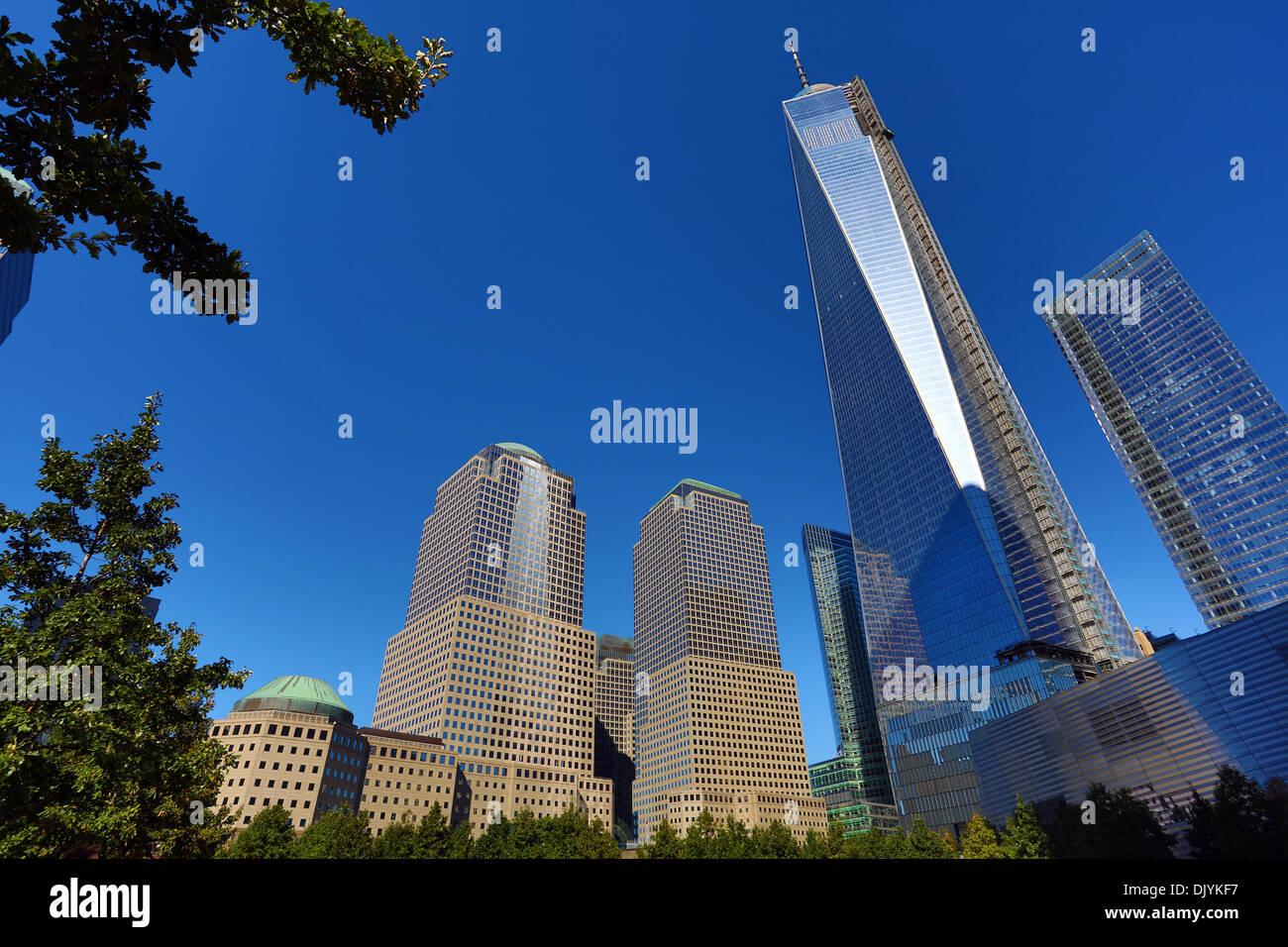 One World Trade Center ( 1 WTC ) building in the new World Trade Centre Complex, New York. America - Stock Image