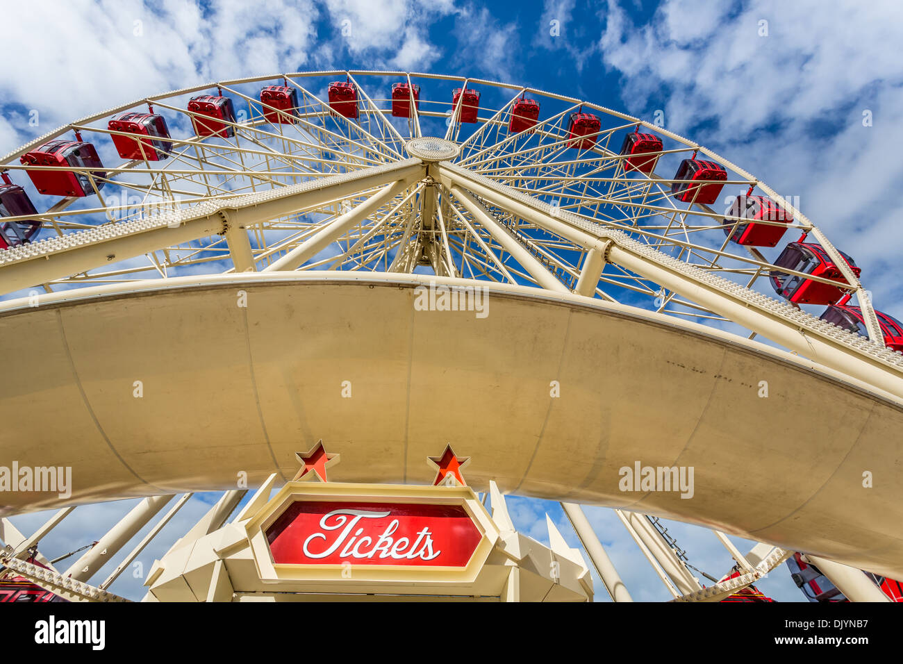 The Sky view Observation Wheel, Fremantle, Western Australia, Australia - Stock Image