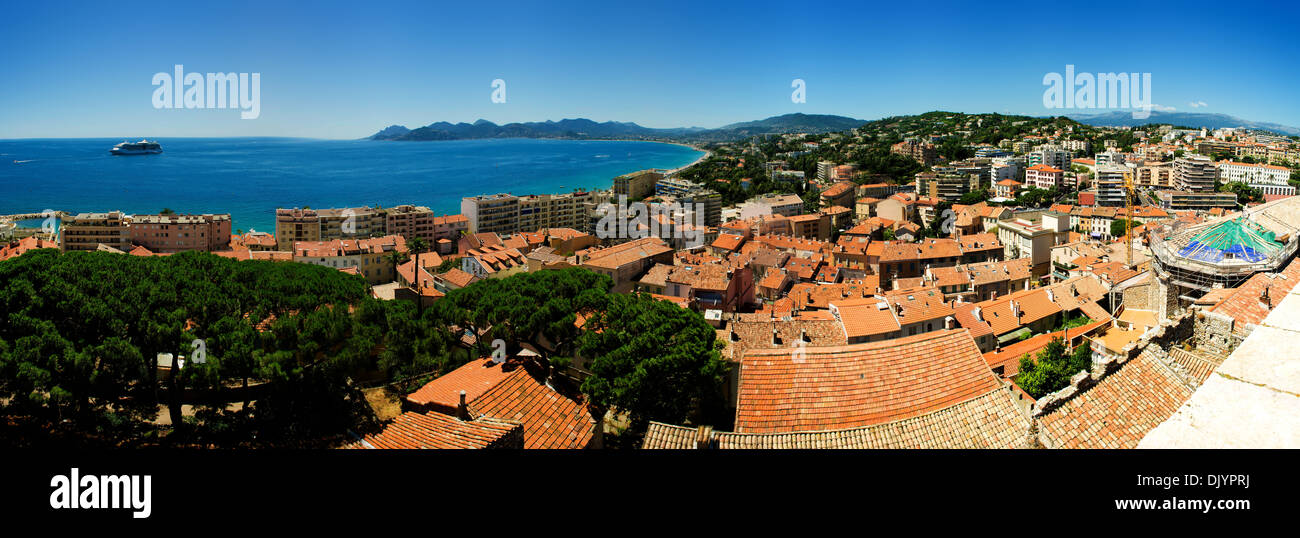 Coast-line of Cannes (France), panorama - Stock Image