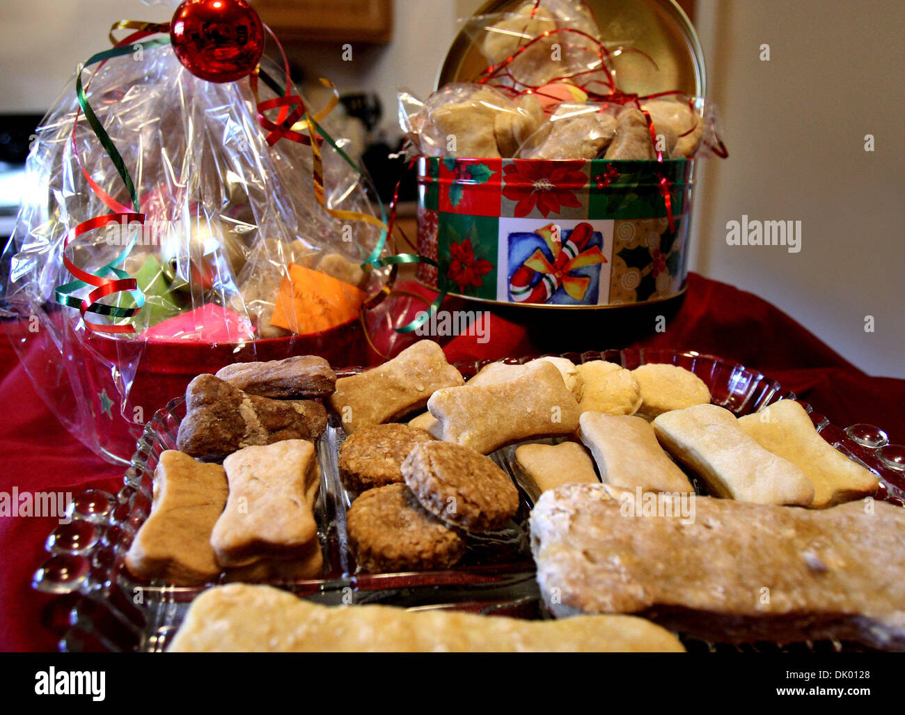 Dec. 15, 2010 - Nesbit, MS, U.S. - December 3, 2010 - After losing her job, Deborah Brown began making gourmet dog Stock Photo