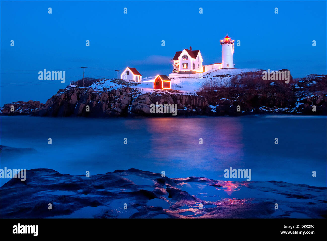 Maine Christmas Lights Stock Photos & Maine Christmas Lights Stock ...