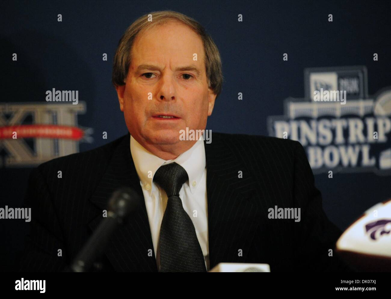 Dec. 22, 2010 - Manhattan, New York, U.S. - New York Yankees Chief Operating Officer LONN TROST speaks as The New Era Pinstripe Bowl announces that it will donate over 6,000 tickets to New York City - based charitable and community groups for the inaugural bowl game to be played on December 30, 2010 at Yankee Stadium. (Credit Image: © Bryan Smith/ZUMAPRESS.com) - Stock Image