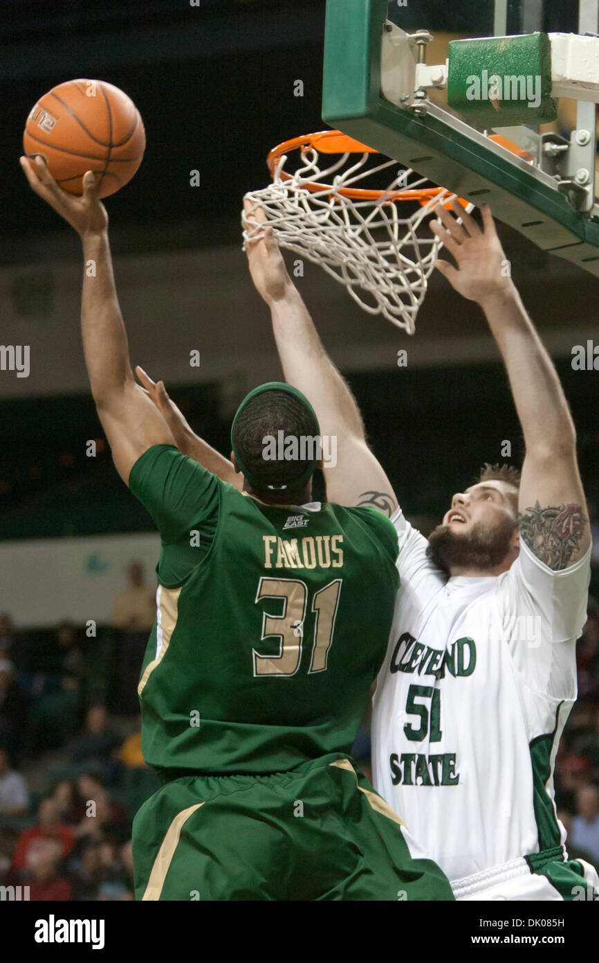 Dec  22, 2010 - Cleveland, Ohio, U S - South Florida forward Jarrid