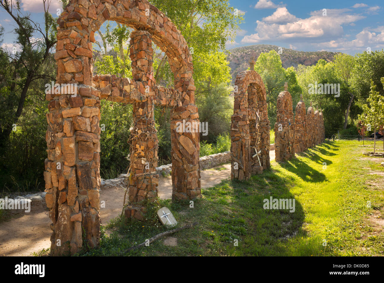 Stations of the cross at Santuario de Chimayo, New Mexico - Stock Image