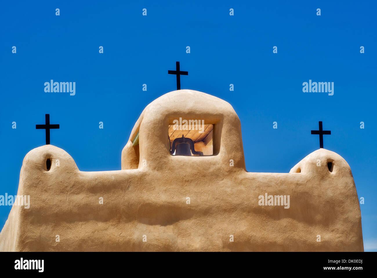Church San Juan De Los Lagos. Talpa, New Mexico - Stock Image