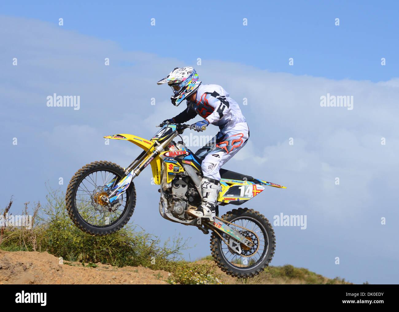 moto x bike rider - Stock Image