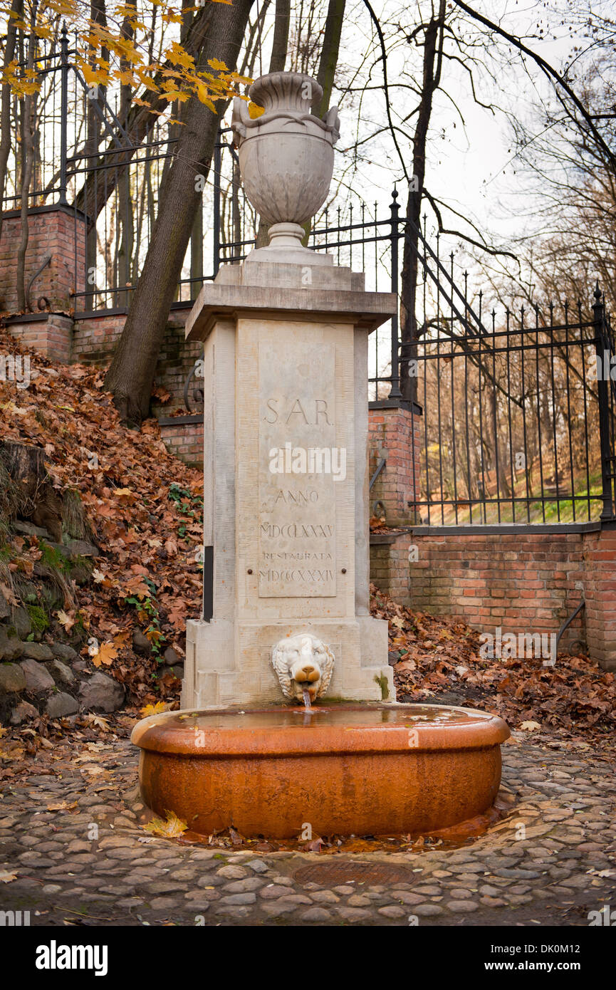 Sar fountain in Baths Royal Park in Warsaw - Stock Image