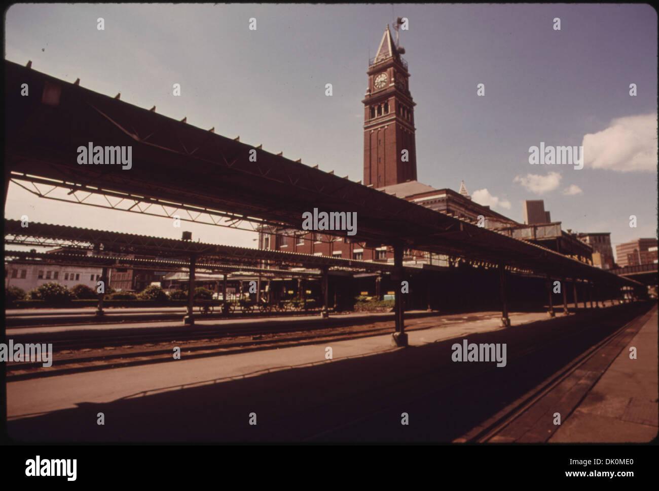 KING STREET PASSENGER TRAIN STATION IN SEATTLE, WASHINGTON HAS BEEN DESIGNATED AN HISTORICAL LANDMARK. AMTRAK IS... 556125 - Stock Image