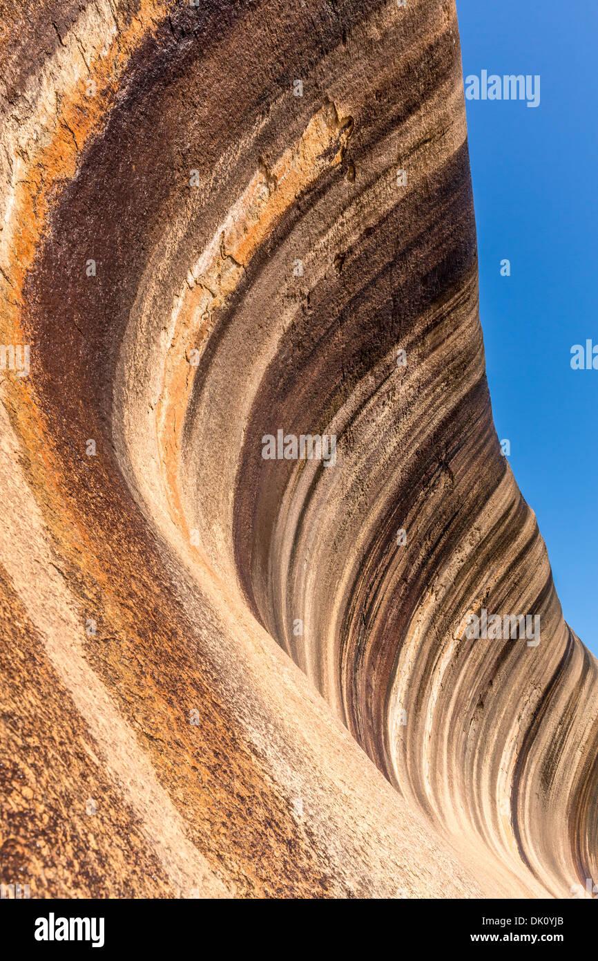 Wave Rock, near Hyden, Western Australia - Stock Image