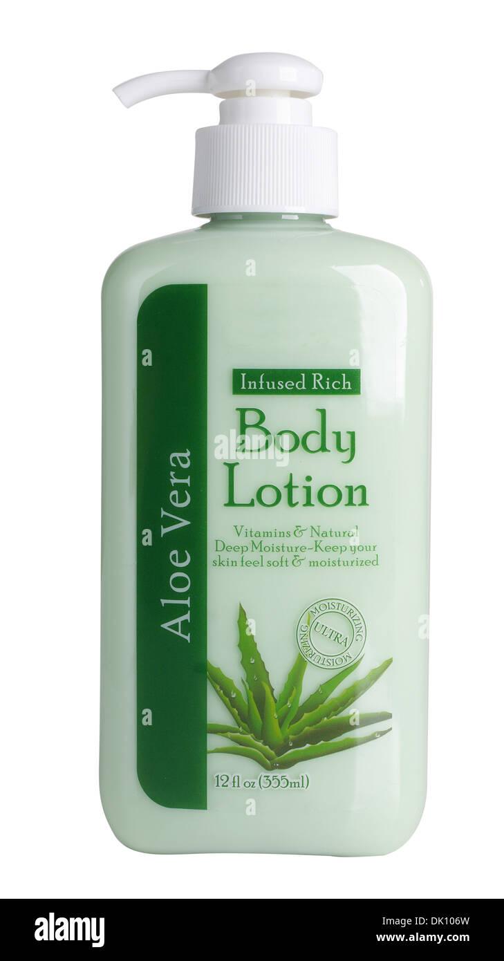 Aloe Vera Body Lotion - Stock Image