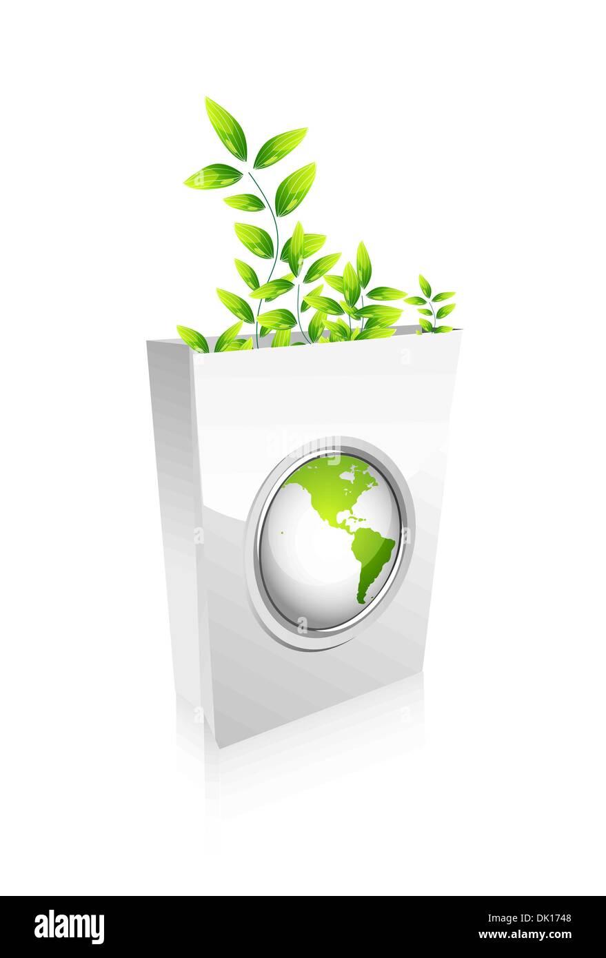 Vector abstract green concept design - Stock Image
