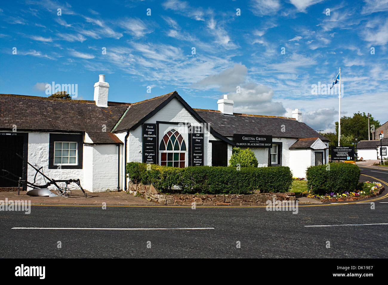 The Old Blacksmith shop Gretna Green - Stock Image