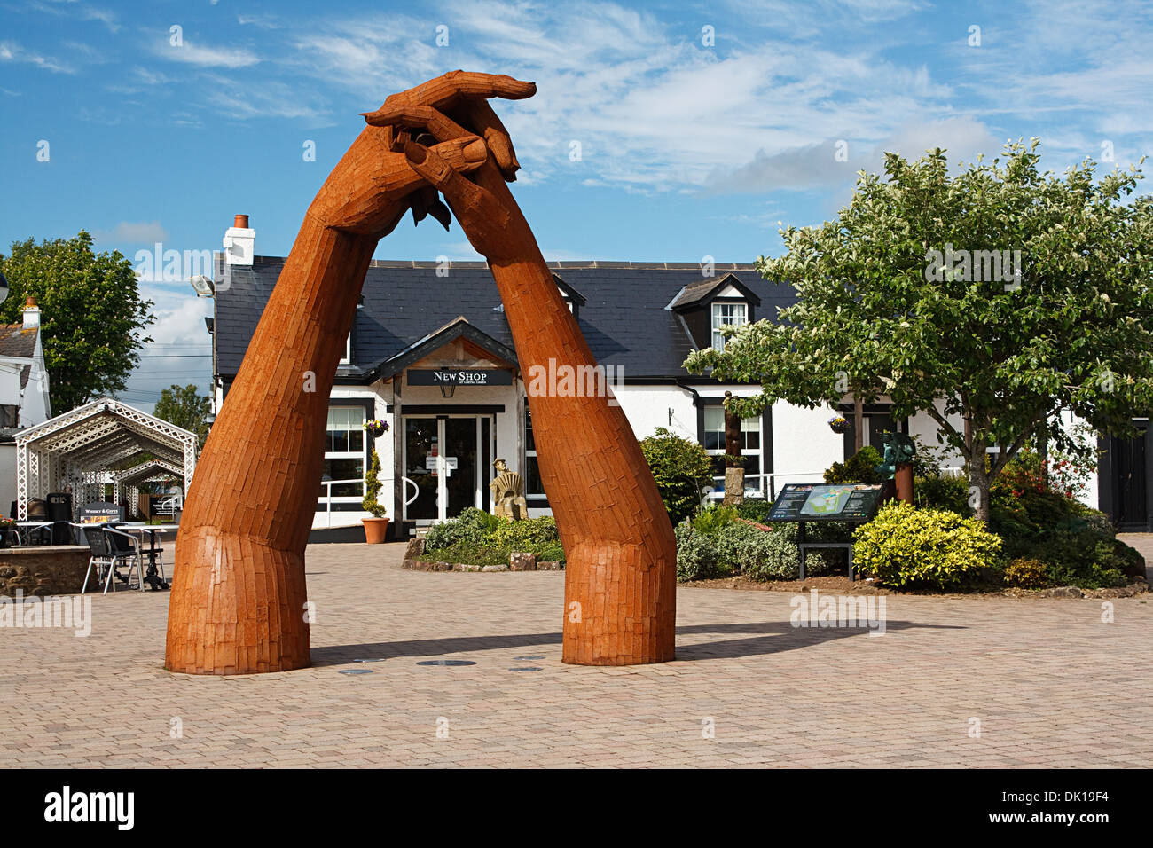 The Old Blacksmith Shop Visitor Centre at Gretna Green, Dumfries and Galloway - Stock Image