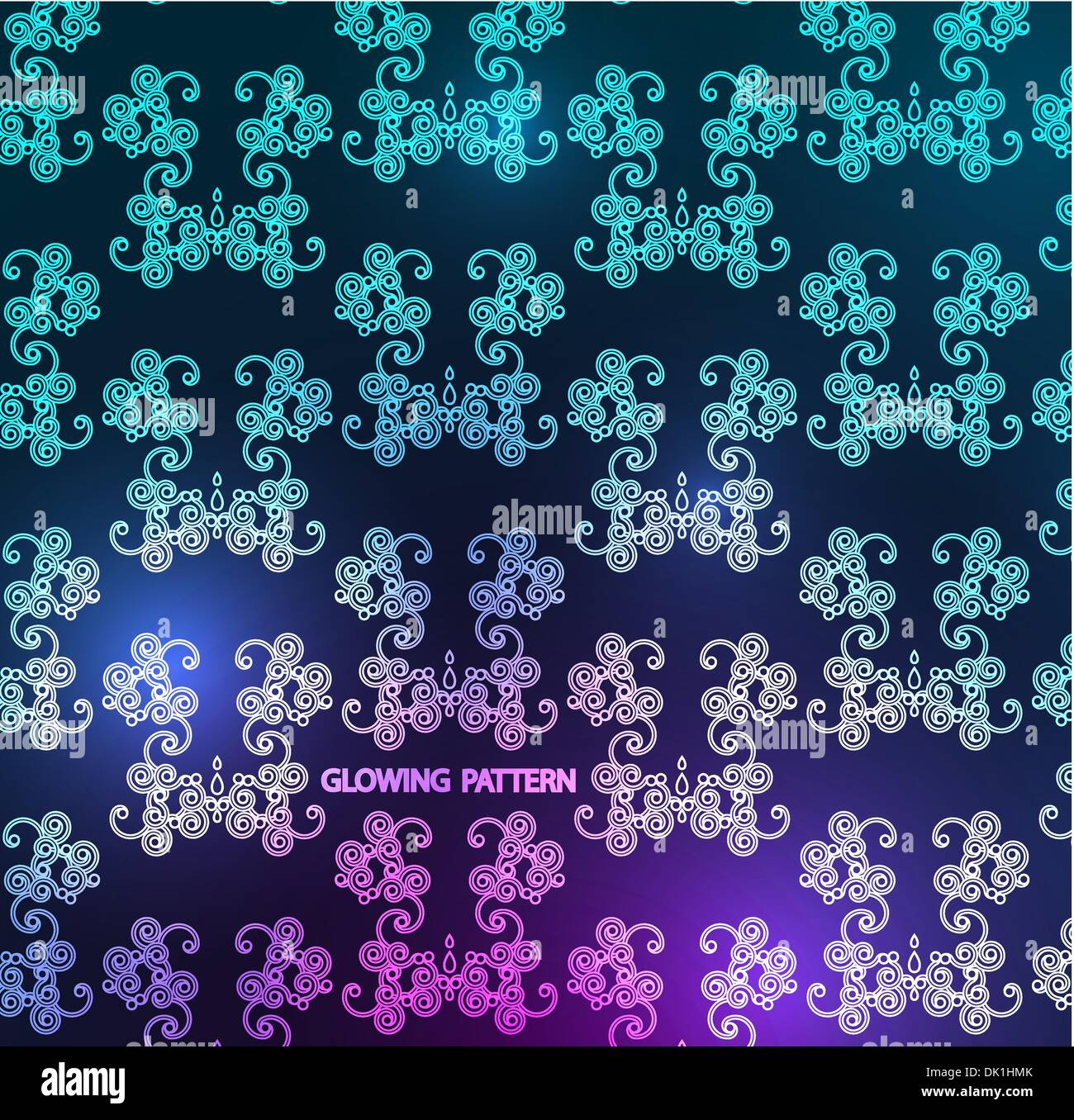 Glowing Wallpaper Pattern For Your Project Stock Vector Art