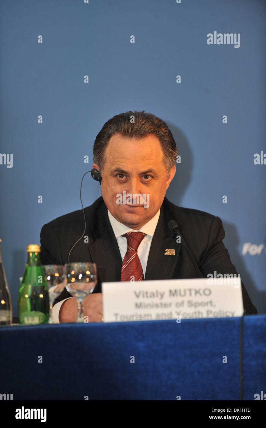 Jan 23, 2011 - St. Petersburg, Russia - VITALY MUTKO, Minister of Sport of Russia at the host country appointment ceremony in Moscow as Russia will host the 2018 World Cup . (Credit Image: © PhotoXpress/ZUMAPRESS.com) - Stock Image