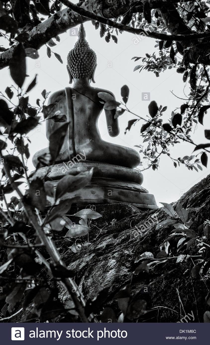 A Buddhist shrine on the mountainside in the Chiayaphum province of Thailand's north east region; Isan. - Stock Image
