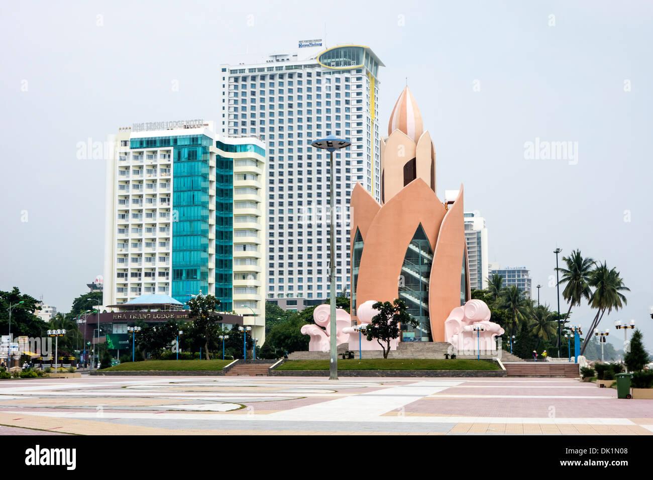 Thap Tram Huong Tower, Nha Trang, Vietnam Stock Photo