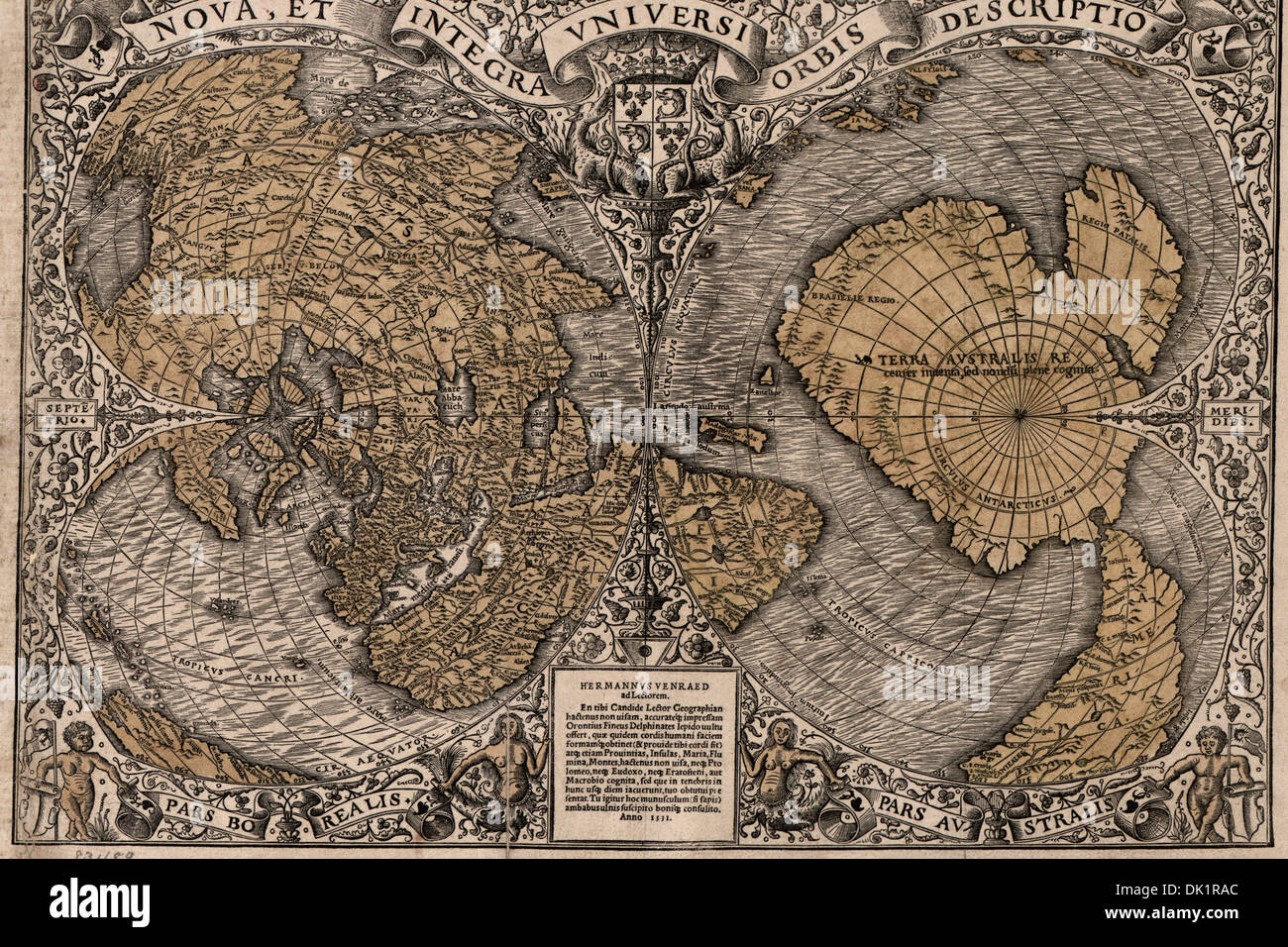 1531 World Map Today's new and integral to the whole world a description of  the new and complete all of the 1531 census The nova, and integral to the  whole ...